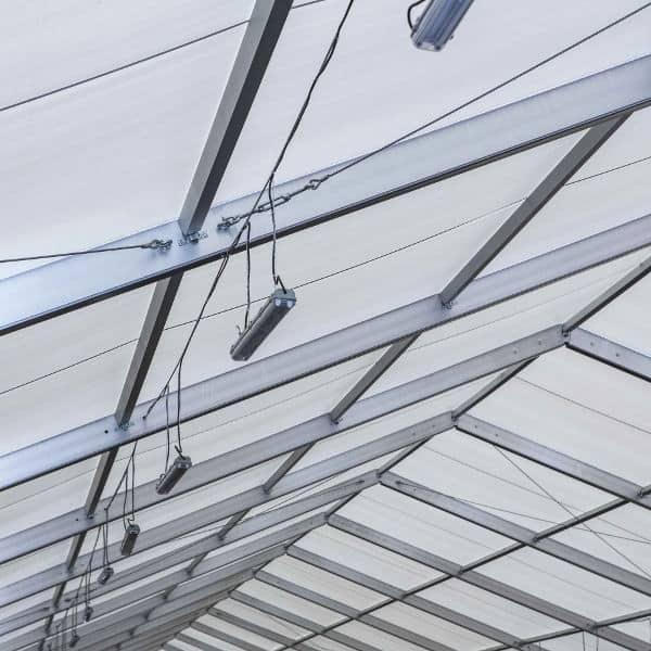 tejado de PVC blanco