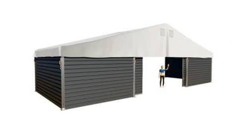 carpas almacén Chapa trapezoidal puerta corrediza